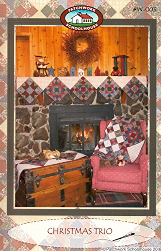 Quilting Pattern: Christmas Trio (Tree Skirt, Table Runner, Mantle Cover)