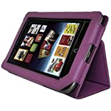 AGPtek Leather Cover Case Stand for Barnes & Noble Nook Tablet Color Purple