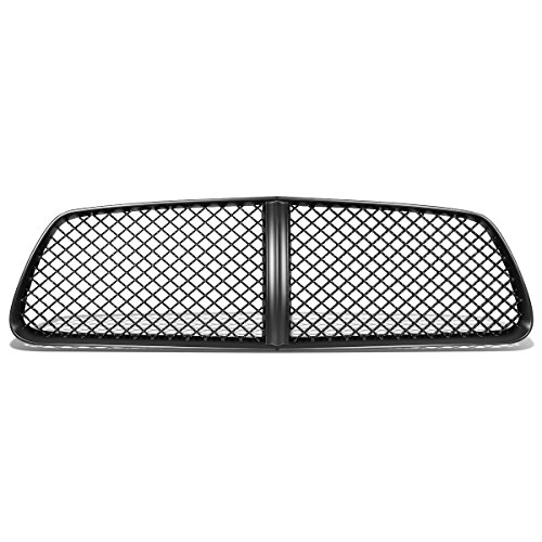 For 11-14 Dodge Charger ABS Plastic Glossy Diamond Mesh Style Front Bumper Grille (Black) (Mesh Charger Dodge Grille)