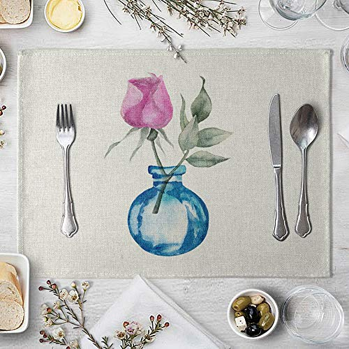 memorytime Flower Bottle Heat Insulated Pad Kitchen Dining Table Tableware Mat Placemat Kitchen Dining Supplies - 5# by memorytime (Image #9)