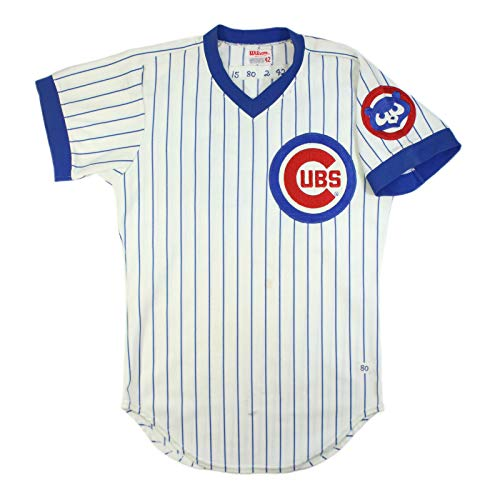 (STEVE DILLARD 1980 GAME USED WORN CHICAGO CUBS HOME PIN-STRIPE JERSEY )