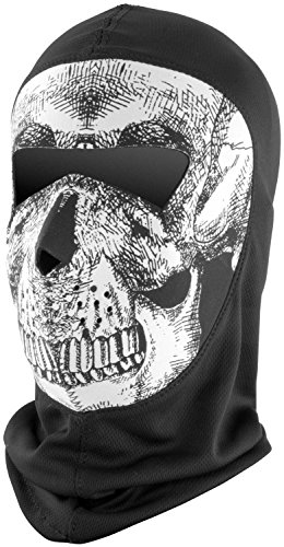 COOLMAX; BALACLAVA EXTREME, FULL MASK, B&W SKULL, Manufacturer: BALBOA, Part Number: 830330-AD, VPN: WBC002NFME-AD, Condition: New