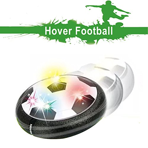 Air Hover Ball Toys Power Soccer with Soft Foam Bumpers and Colorful LED Lights,Training Glide Base Football indoor & outdoor with parents,fun game for Kids(Mini Screwdriver Included) (Disco Setup Ideas)