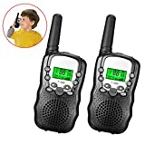 Outdoor Toys for 6-8 Year Old Boys, JoyJam Walkie Talkies for Kids Boys, 3KM Long Range for Kids Camping Hiking Christmas Birthday Gifts for 8-10 Year Old Boys Black WT04