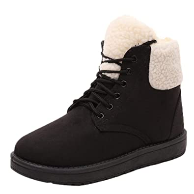 1701db6902ba Lace-Up Low Heel Women Boots Ankle Ladies Shoes Size 5 Winter Snow Leisure  Casual Waterproof Flexible Fashion Safety Wide Fit  Amazon.co.uk  Shoes    Bags