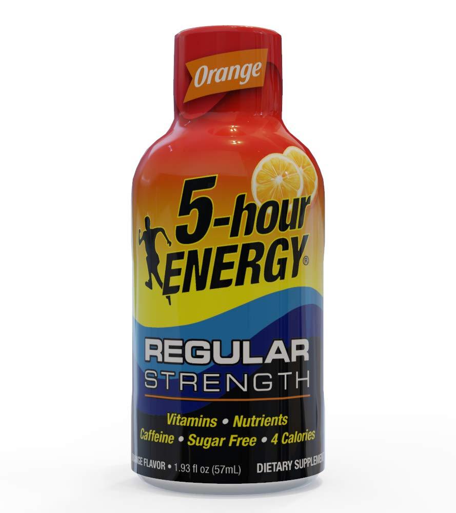 5-hour ENERGY Shot, Regular Strength Orange, 1.93 ounce, 24 pack by 5-hour ENERGY