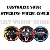 xuji steering wheel cover - Loncky Genuine Leather Auto Custom Steering Wheel Cover for 2012-2016 Toyota Tacoma / 2014-2016 Toyota Tundra / 2010 2011 2013 2013 2014 2015 2016 Toyota 4Runner / 2014-2016 Toyota Sequoia