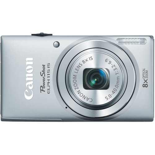 Canon PowerShot ELPH 115 16MP Digital Camera (Silver) (OLD MODEL)