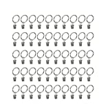 Bestsupplier 40 Pcs Nickel plating Metal Curtain Clip Rings with Clip Rustproof Vintage 1.25 Inch Interior Diameter (Silver)