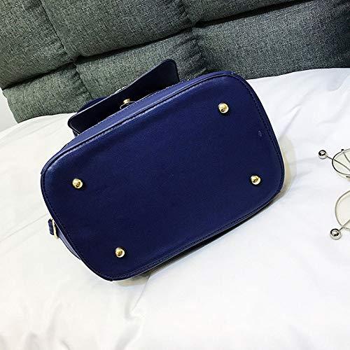 Mode Sauvage Blue Couleur à Sac Main à Bandoulière De Contrastante De Sac Sacs Féminine à Dos 6nRZn4a