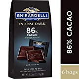 Ghirardelli Intense Dark Chocolate Squares - 86% Cacao - Dark chocolate with hints of cherries and plums - 4.12 oz. (117.1g) (Pack of 6)