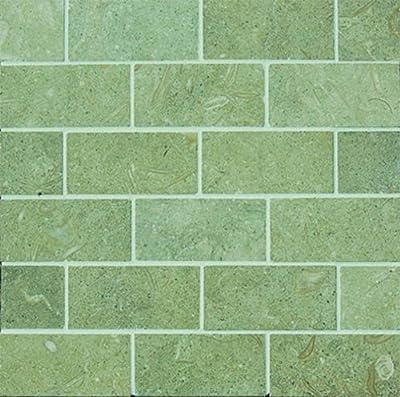 Epoch Tile SE2X4 2x4 Seagrass Tumbled Limestone