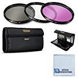 Vivitar 3 Piece UV / CPL / FLD 58mm Filter Kit for Canon for Canon EOS, T1i, T2i, T3, T4i, T5, T5i, SL1, 1D, 5D, 5D Mark II, 5DII Cameras &More + eCost Microfiber Cloth