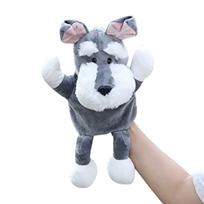Xeagt Cute Cartoon Dog Doll Kids Animal Hand Puppet Dolls Soft Plush Toys for Story Telling for Parent-Child Interactive: Home & Kitchen [5Bkhe0801770]