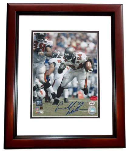 Carnell CADILLAC Williams Signed - Autographed Tampa Bay Bucs 8x10 inch Photo MAHOGANY CUSTOM FRAME ()