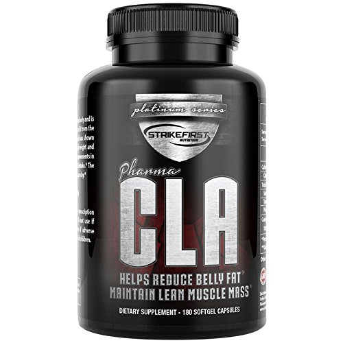 Pharma CLA 180 Softgels (800mg) Clinically Tested Fat Burning Supplement - No-GMO High Potency