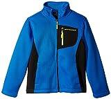 Weatherproof Big Boys Spyder Fleece And Softshell Jacket, Blue/Black, 10/12