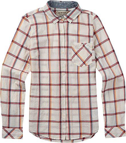 Burton Grace Long Sleeve Woven, Stout White Bonfire, (Burton Womens Shirt)