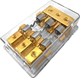 Jex Electronics 3/Triple/3X AGU In-Line Fuse Holder Distribution Block Stereo/Audio/Car 30A-100A