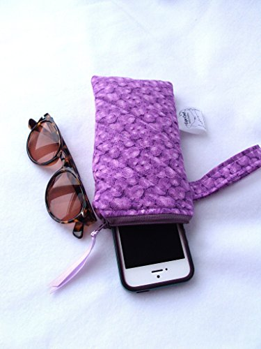 Waterproof Sunglasses Reading Eyeglasses Holder Quilted iPhone Wet Bag, Mini Purse Wristlet