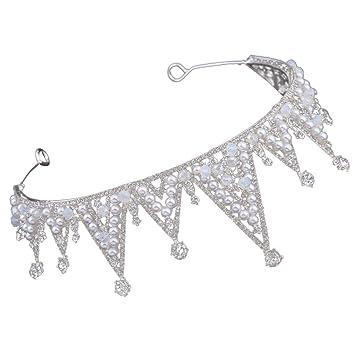 Tensay - Elegante corona para novia, corona para boda, joya ...
