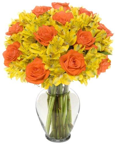 22-Long-Stem-Sunrise-Rose-Alstro-Bouquet