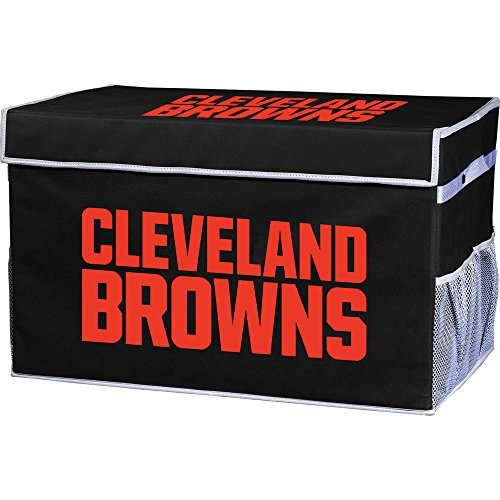 Franklin Sports Cleveland Browns Collapsible Foot Locker Storage Bins - Team Logo Home Organizer - 26