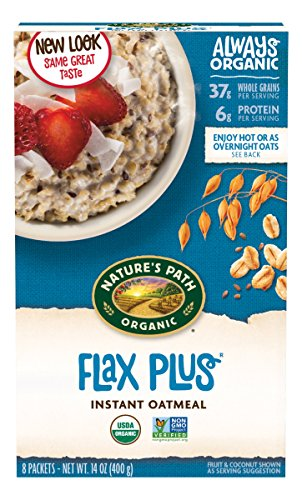 Natures Path Flax Cereal - Nature's Path Organic Instant Hot Oatmeal, Flax Plus, 14 Ounce (Pack of 6)