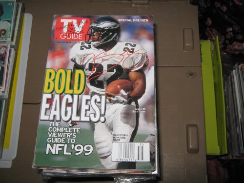 Tv Guide (Philadelphia Eagles . RB Duce Staley , Collector's Signature Cover, August 28 - September 3 , 1999)