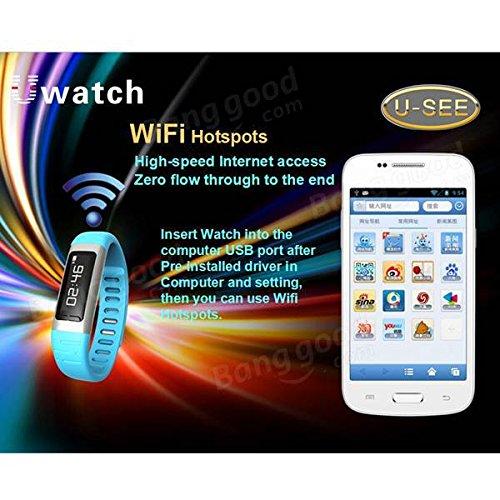 U9 u-see deporte U reloj 0,91 pulgadas Bluetooth inteligente muñeca banda pulsera para Android (azul): Amazon.es: Deportes y aire libre