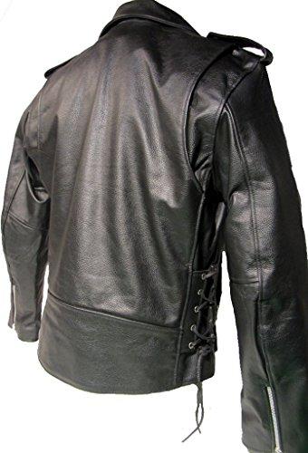 80er Lederjacke - Metal Lederjacke - Lederjacke Brando Style ...