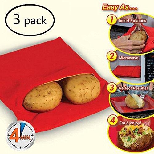 3 unidades) microondas bolsa de patatas nanmate lavable y ...