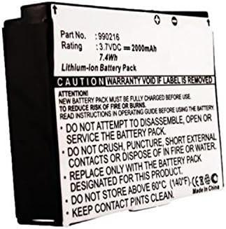 GEX-INNO2 GEX-INNO1-P MPF Products 2000mAh 990216 Battery Replacement Compatible with Pioneer GEX-INNO1 Samsung YX-M1Z Helix XM2go XM Radios GEX-INNO2BK Inno 2 Inno XM2go