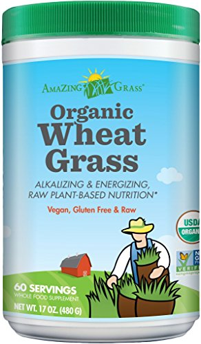 Amazing Grass Organic Wheat Grass Powder, 60 Servings, 17-oz. Container