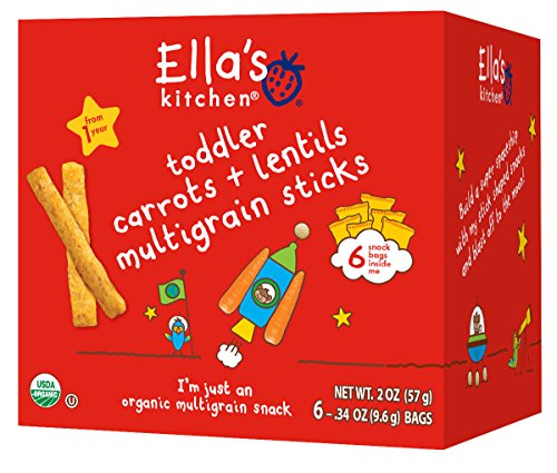 Ella's Kitchen Organic Multigrain Sticks - Carrots   Lentils - 6 ct