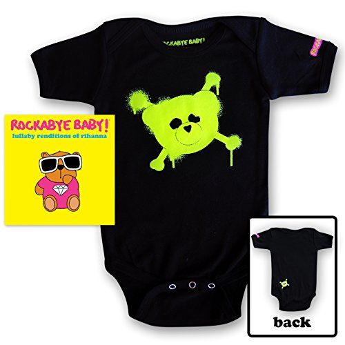 Rockabye Baby! Lullaby Renditions of Rihanna + Organic Baby Bodysuit (Green)