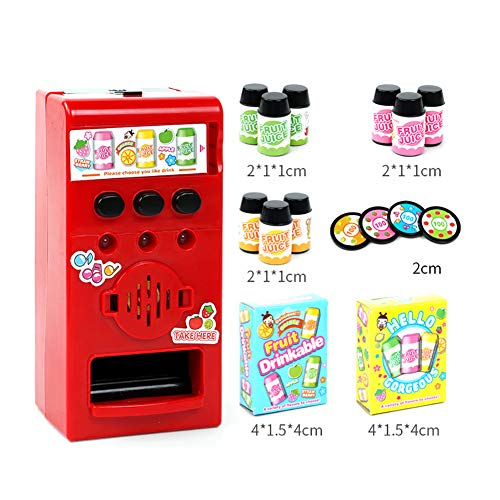 - loinhgeo Kids Child Simulated Sound Drink Vending Machine Role Play Puzzle Safe and Harmless Toy Prop Gift 1