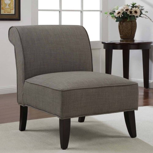 Accent Chair Sadie Slipper Brown Derby Armless