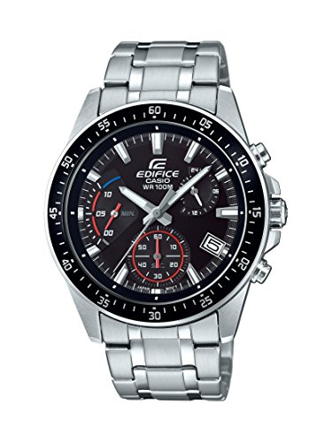 Casio Men's ' Edifice Quartz Stainless Steel Casual Watch, Color:Silver-Toned (Model: EFV-540D-1AVUDF ()