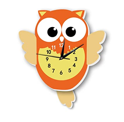 GZD Cute Cartoon Style Wall Clock,Nordic Sipmle Owl Modeling Wall Clock Living Room Childrens