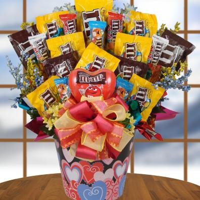 Amazon Com Lovin M M Valentines Day Candy Bouquet Gift Basket