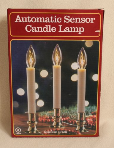 Automatic Sensor Dusk to Dawn Electric Candle Lamps(Pack of 3) (Light Sensor Window Candles compare prices)