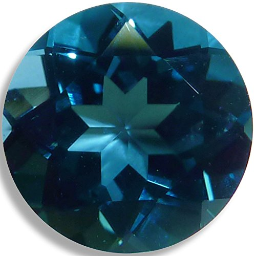 Natural Topaz London Blue Round Brilliant Loose Unset Gem (6mm) click for more sizes - London Natural
