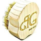 Grooved Boars Hair Pocket Beard Brush   Optimum Comfort & Grip Boars Hair
