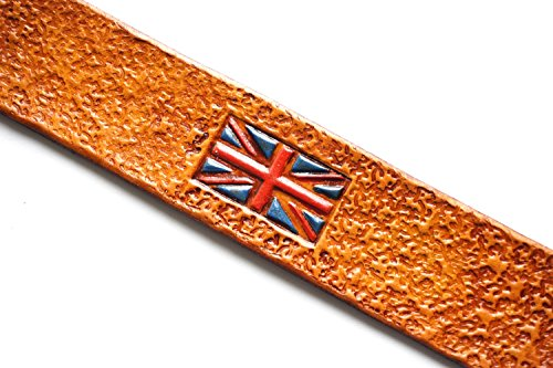 Handmade Leather Bookmark | British Flag by Lodgepole Leathercraft