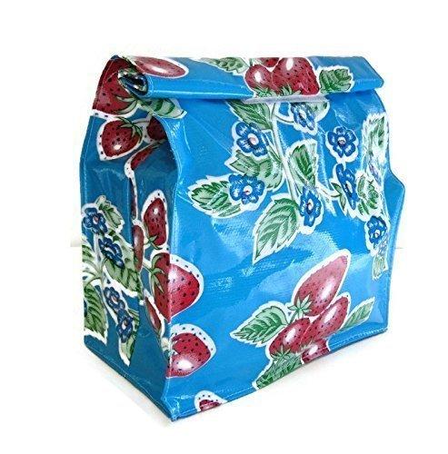 Blue Oilcloth Bag - 6