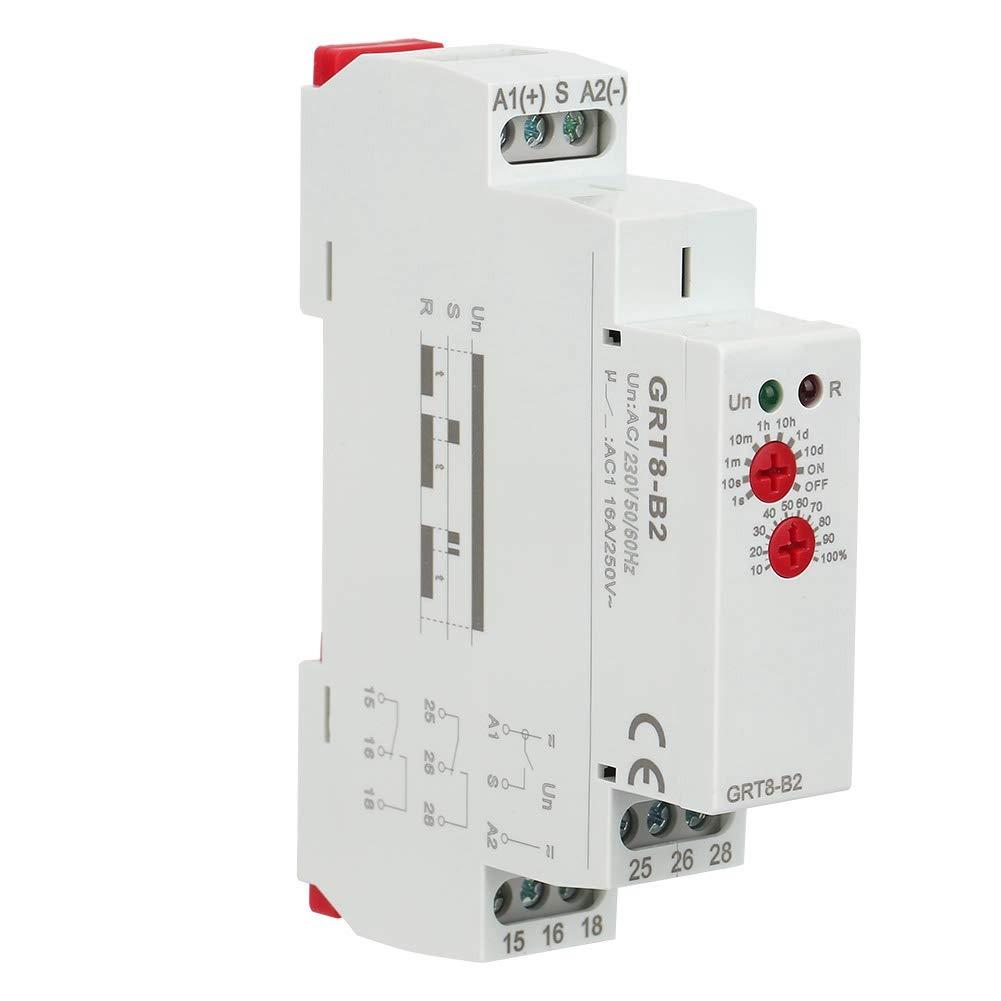 Mini Time Relay Single-Function Time Relay Delay Timer Switch Mini Time Delay Relay GRT8-B2 AC/DC 12V~240V(AC/DC12V-240V)