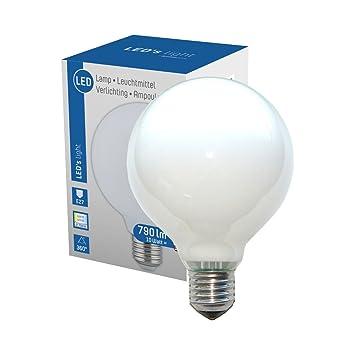 NCC-Licht LED 360° Globe Glühbirne G95 6W = 60W E27 matt opal 806lm ...