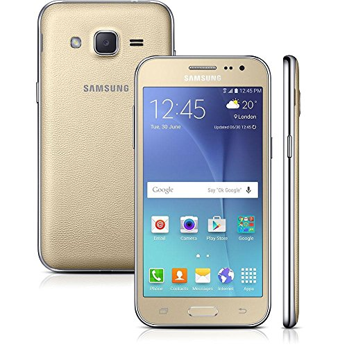 Smartphone Samsung Galaxy J2 Duos J200B, Dourado, 8GB, Tela 4.7'', 4G, Android...