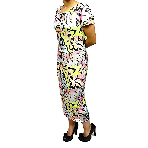 Stretchy Body Con Grafetti Dress